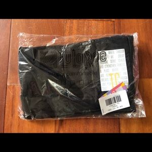 LuLaRoe TC solid black Noir leggings NWT